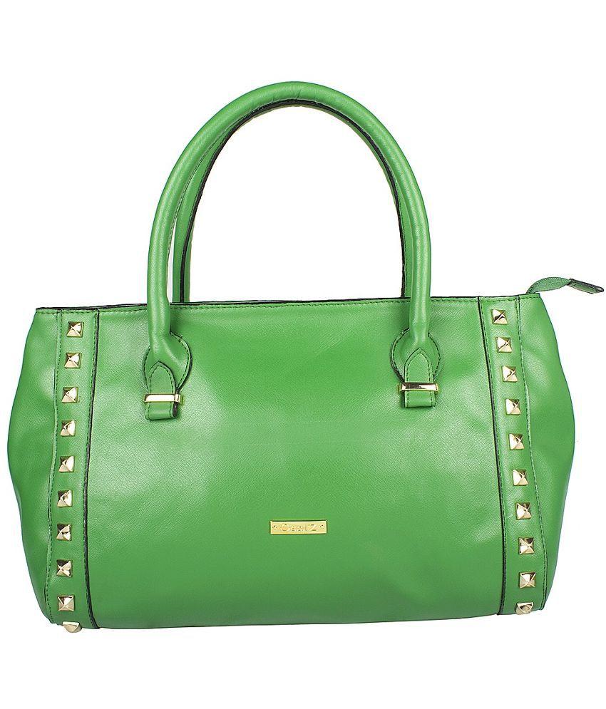 Osaiz Green P.U. Shoulder Bag