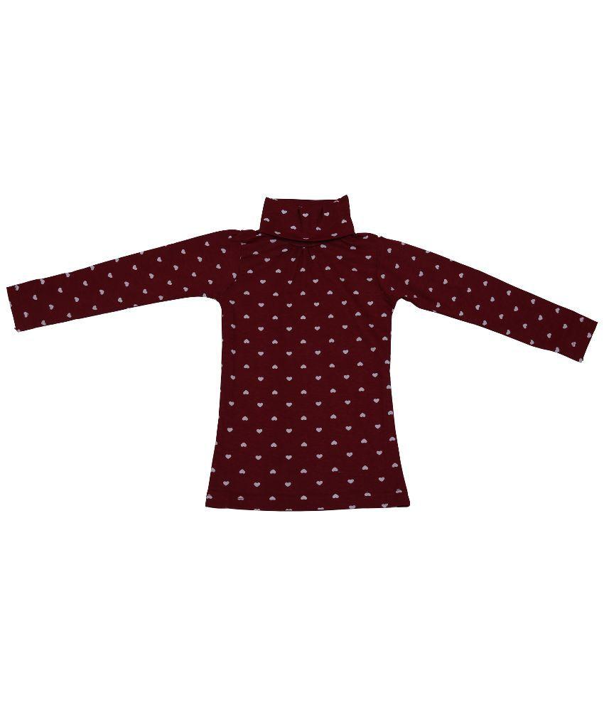 Rumaaz Red Cotton without Hood Sweatshirt