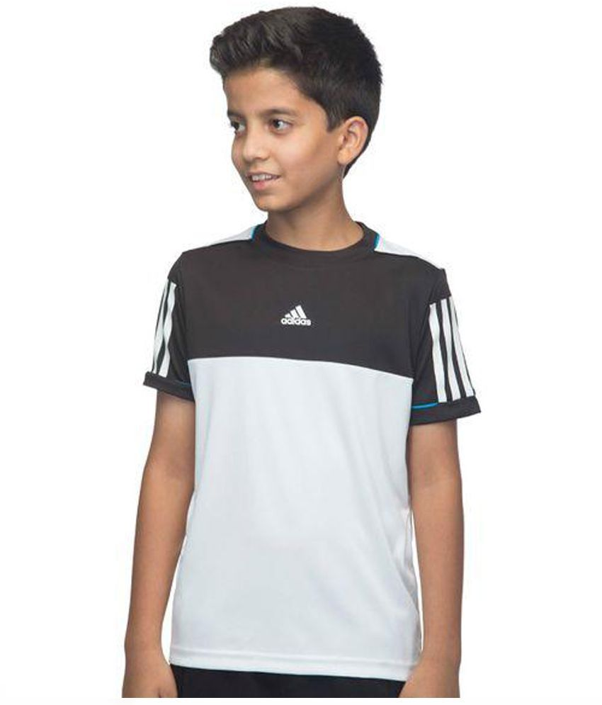 Black t shirt snapdeal - Adidas Black And White T Shirt