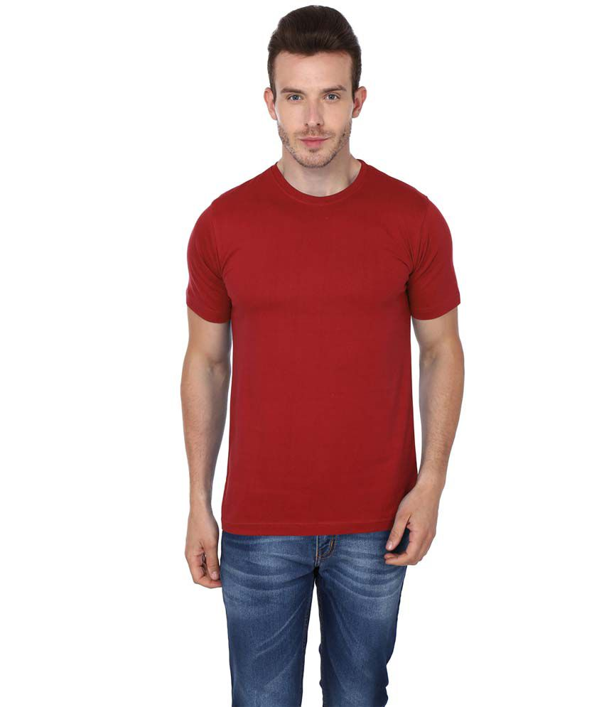 99tshirts Red Round T Shirt