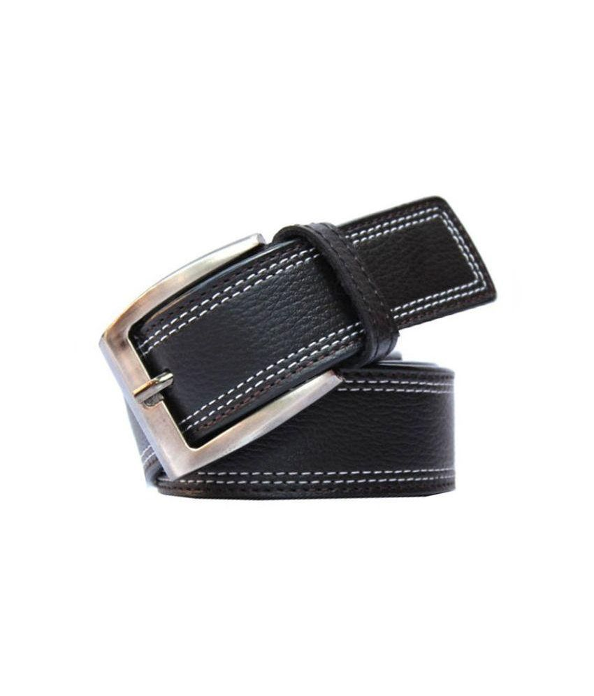 Daller Black Pin Buckle Casual Belt for Men