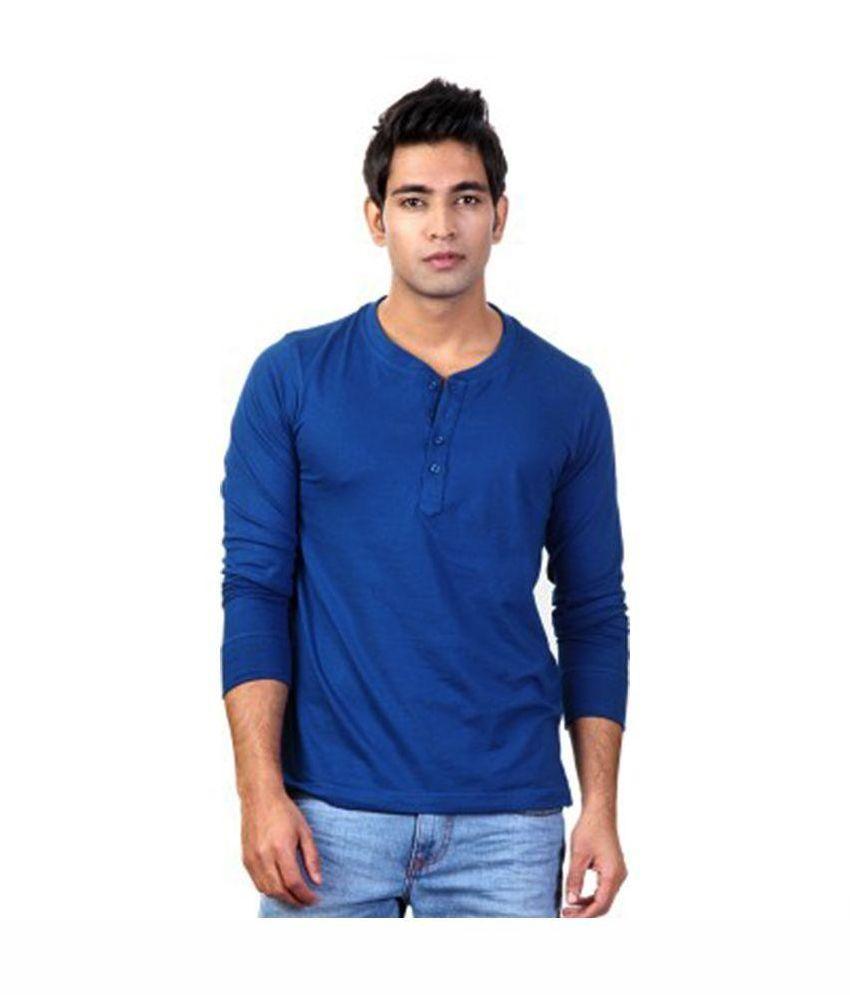 Ilbies Blue Henley T Shirt