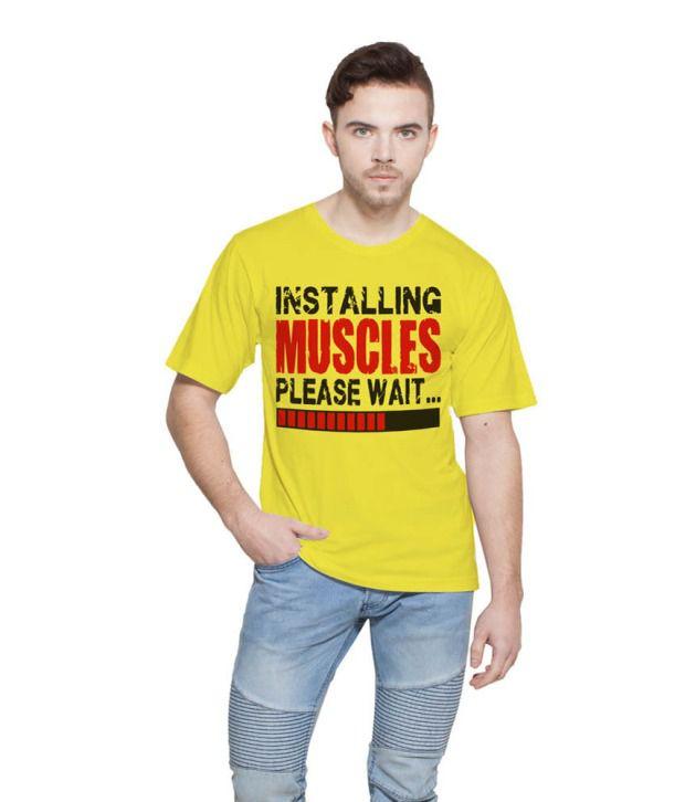 Printing Geeks Yellow Round T Shirt