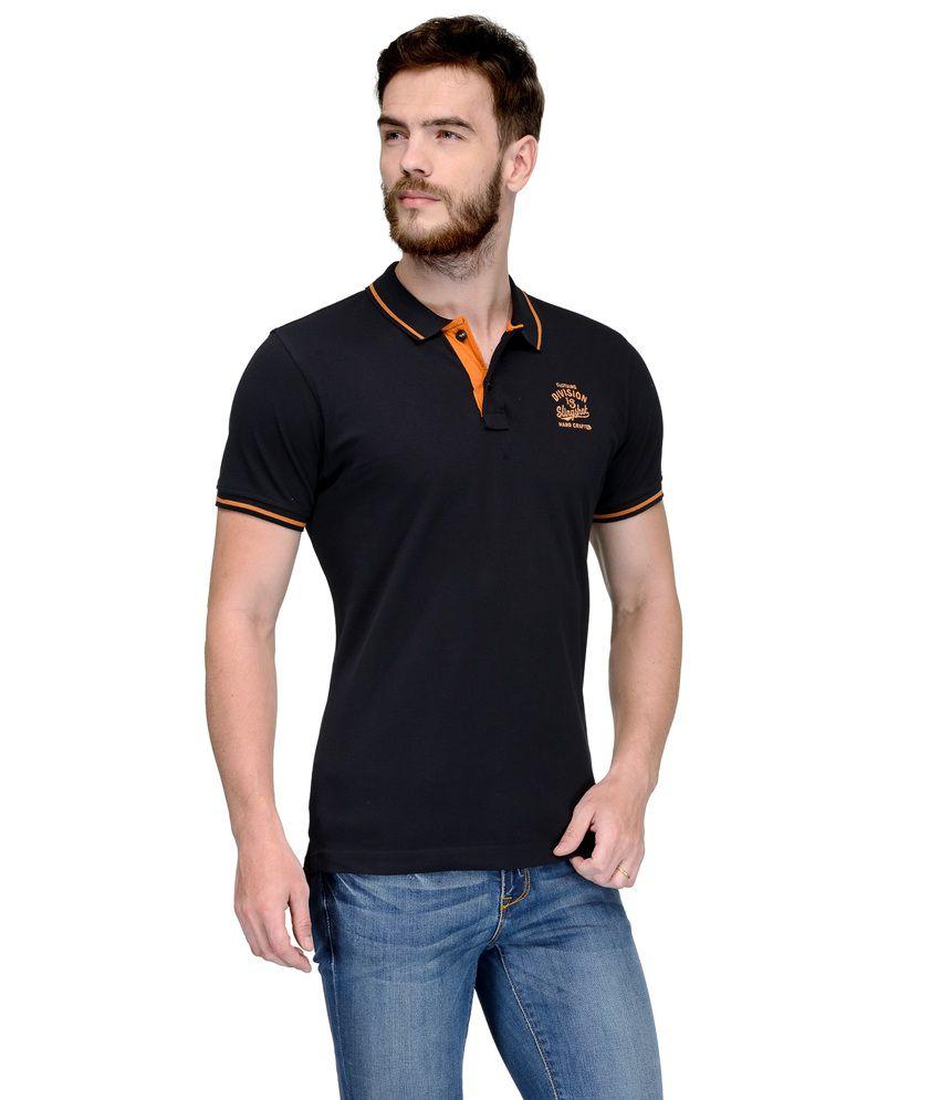 Slingshot Black Polo Neck T Shirt