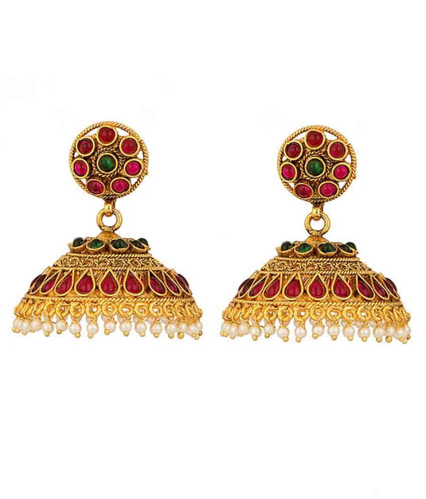 Factorywala Golden Jhumkis