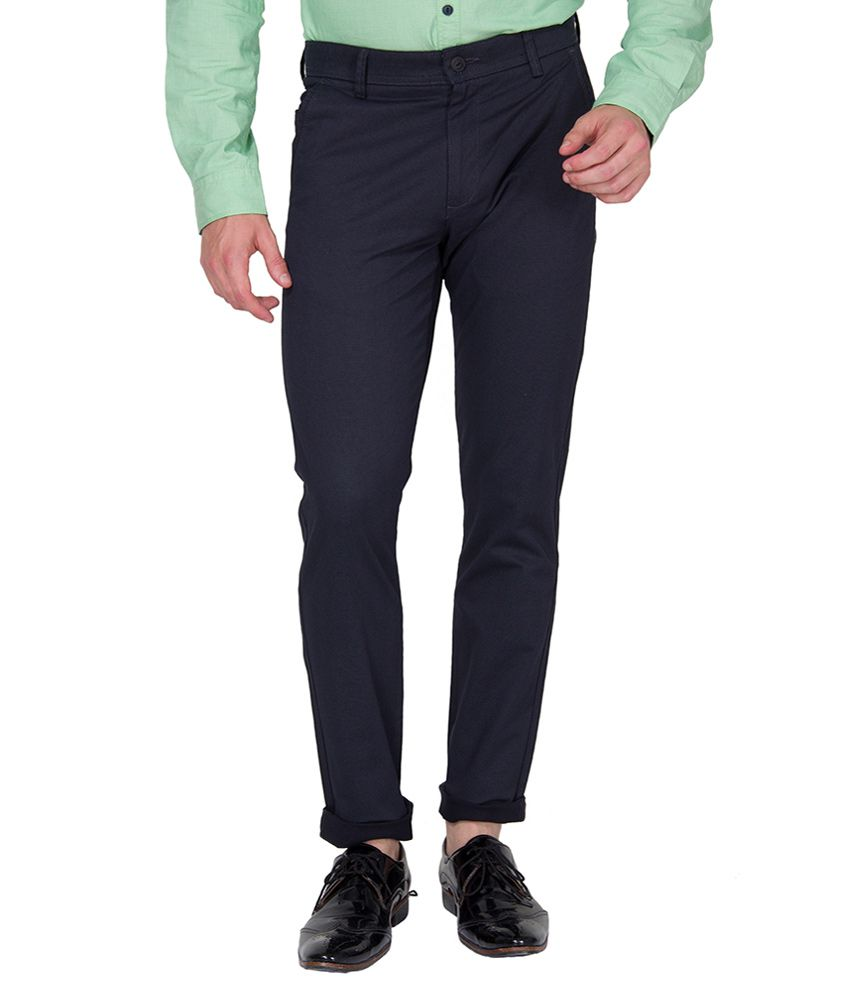 Highlander Navy Slim Fit Chinos