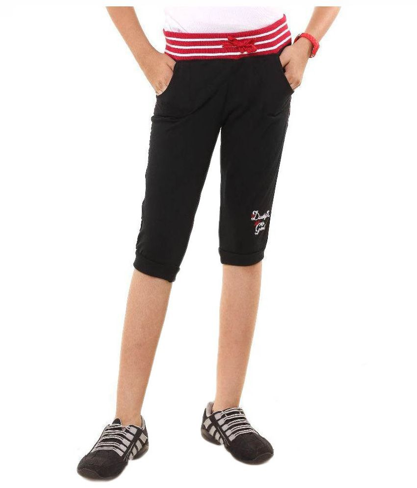 Menthol Black Cotton Shorts