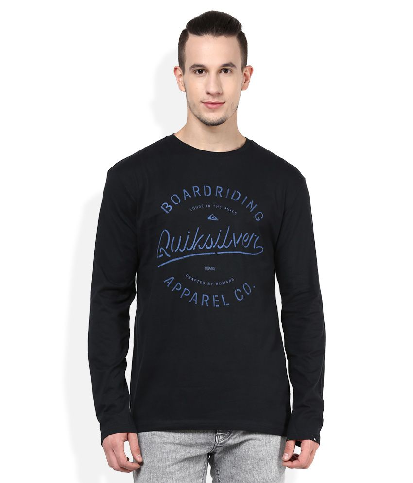 Quiksilver Black Printed T-Shirt