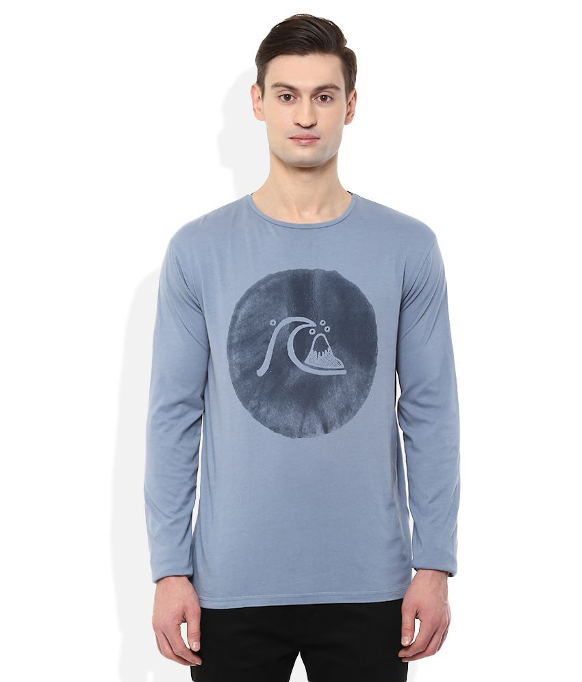 Quiksilver Blue Printed T-Shirt