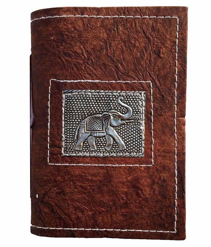 R Store Elephant Print Diary - Brown