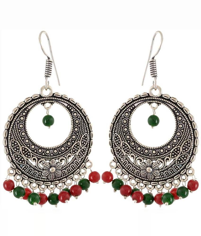 Waama Jewels Multicolour Brass Pearl Chandeliers