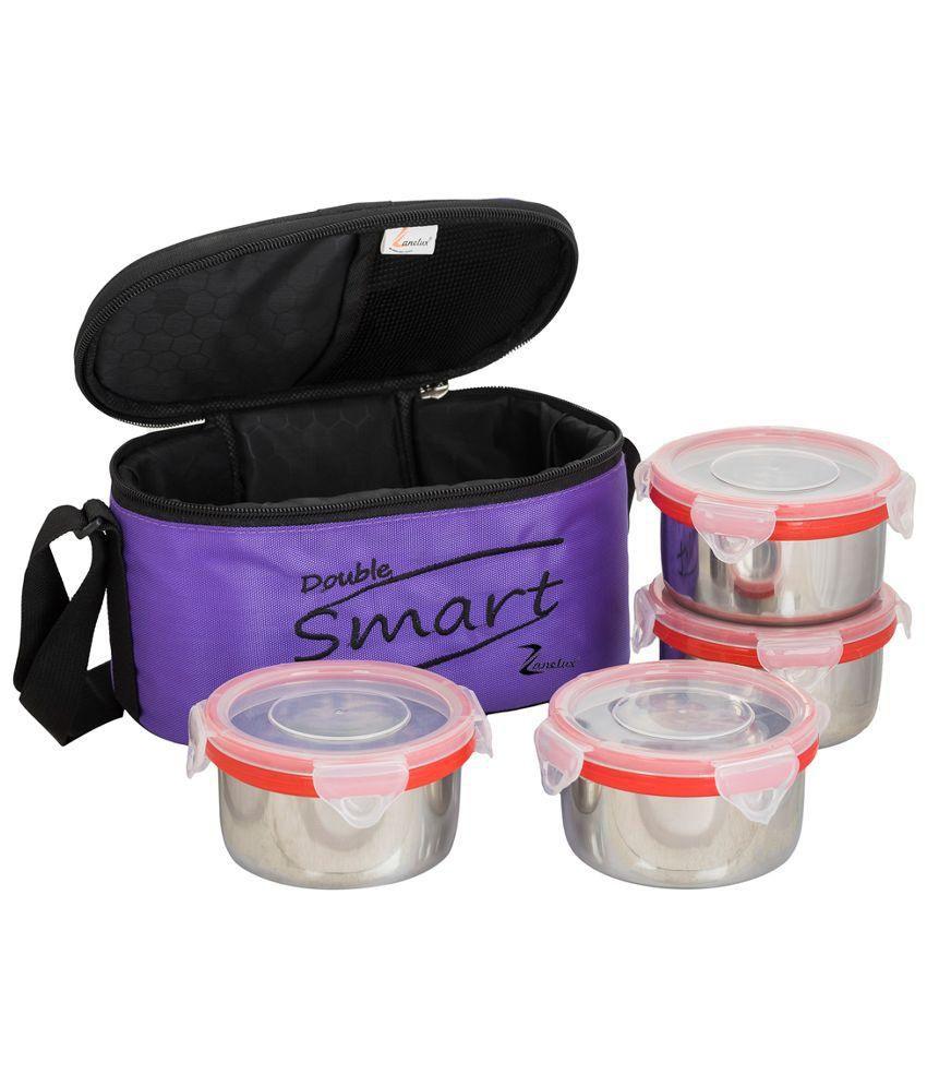 Zanelux Multicolour Steel Lunch Box
