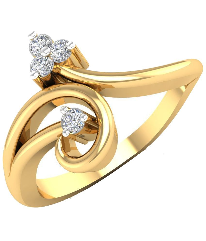 Abhijewels 18 Kt Gold Ring with Diamond