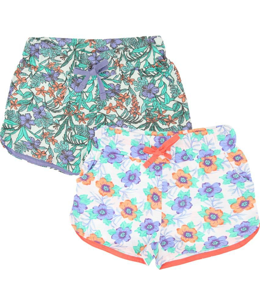Eimoie Multicolour Cotton Shorts - Pack of 2