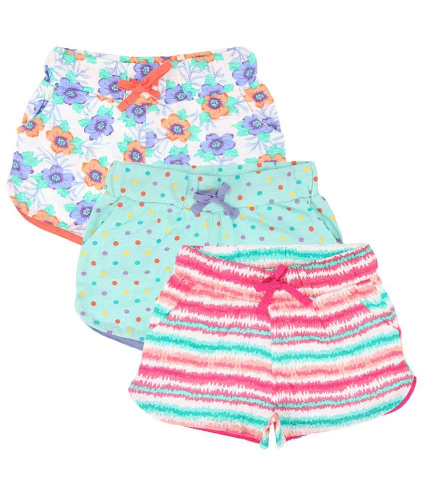 Eimoie Multicolour Cotton Shorts - Set of 3