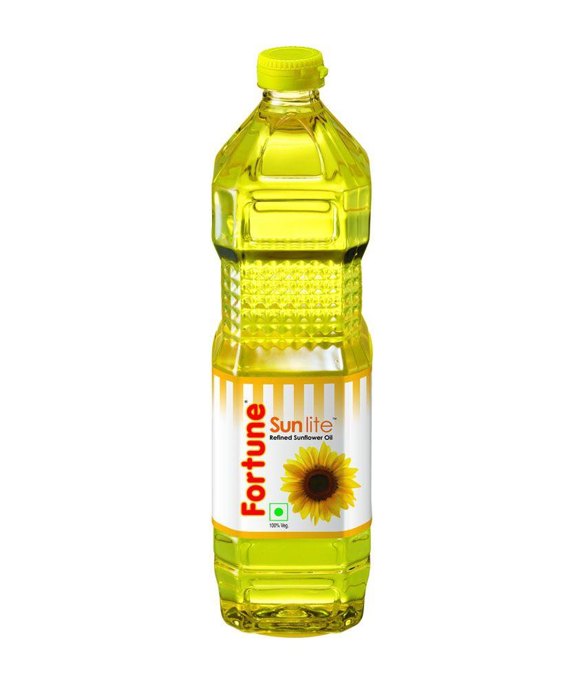 Fortune Sunflower Oil 1 Litre Bottle: Buy Fortune ...