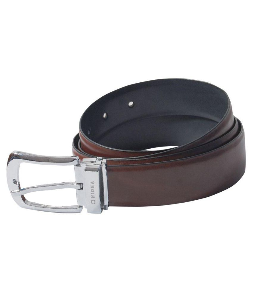 Hidea Brown and Black Reversible Belt for Men