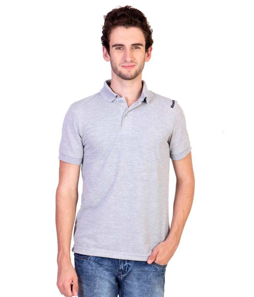 Reebok Grey Polo T Shirts