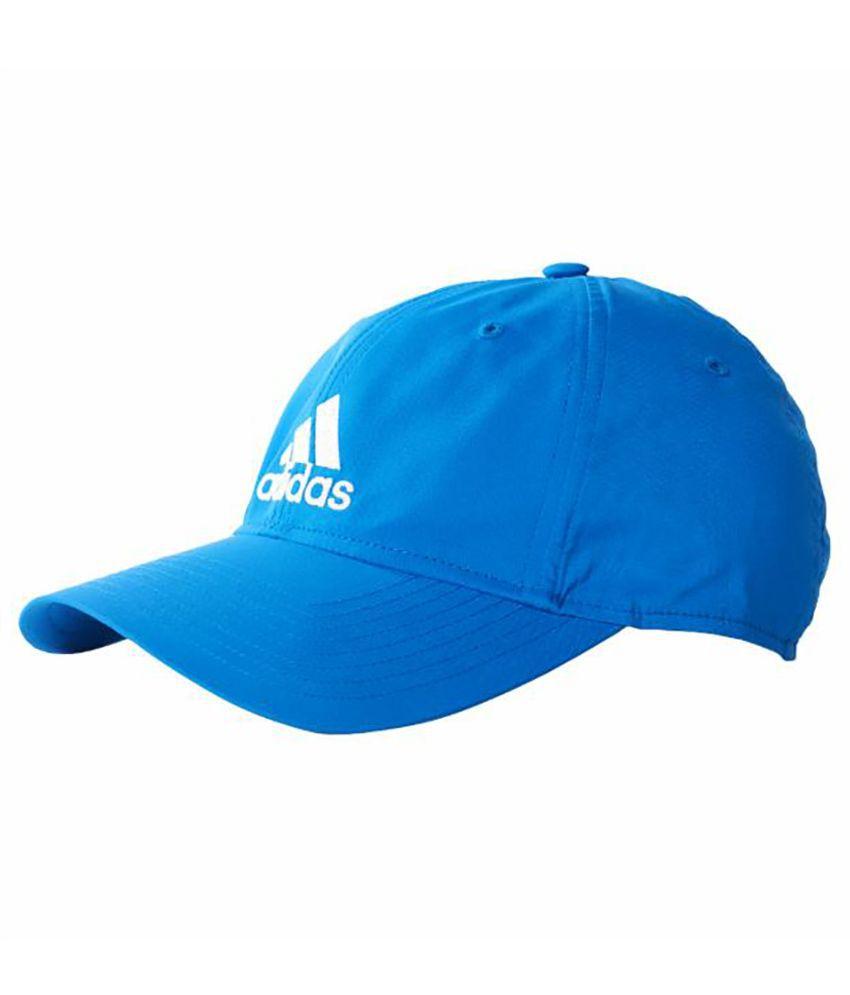 Adidas Blue Cotton Baseball Cap for Men