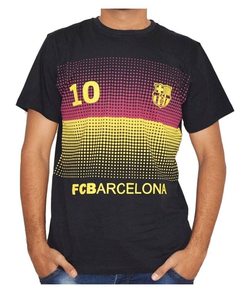 Barcelona T Shirt Mens Printed No.10 Round Neck