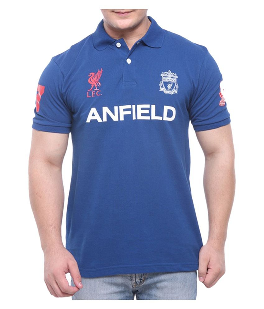 Liverpool F.C. T Shirt Mens ANFIELD CREST POLO