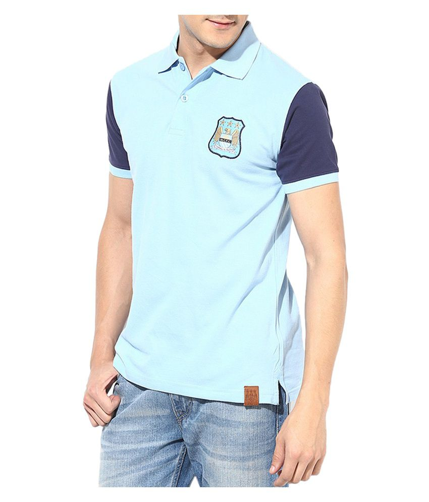Manchester City F.C. T Shirt Mens Polo