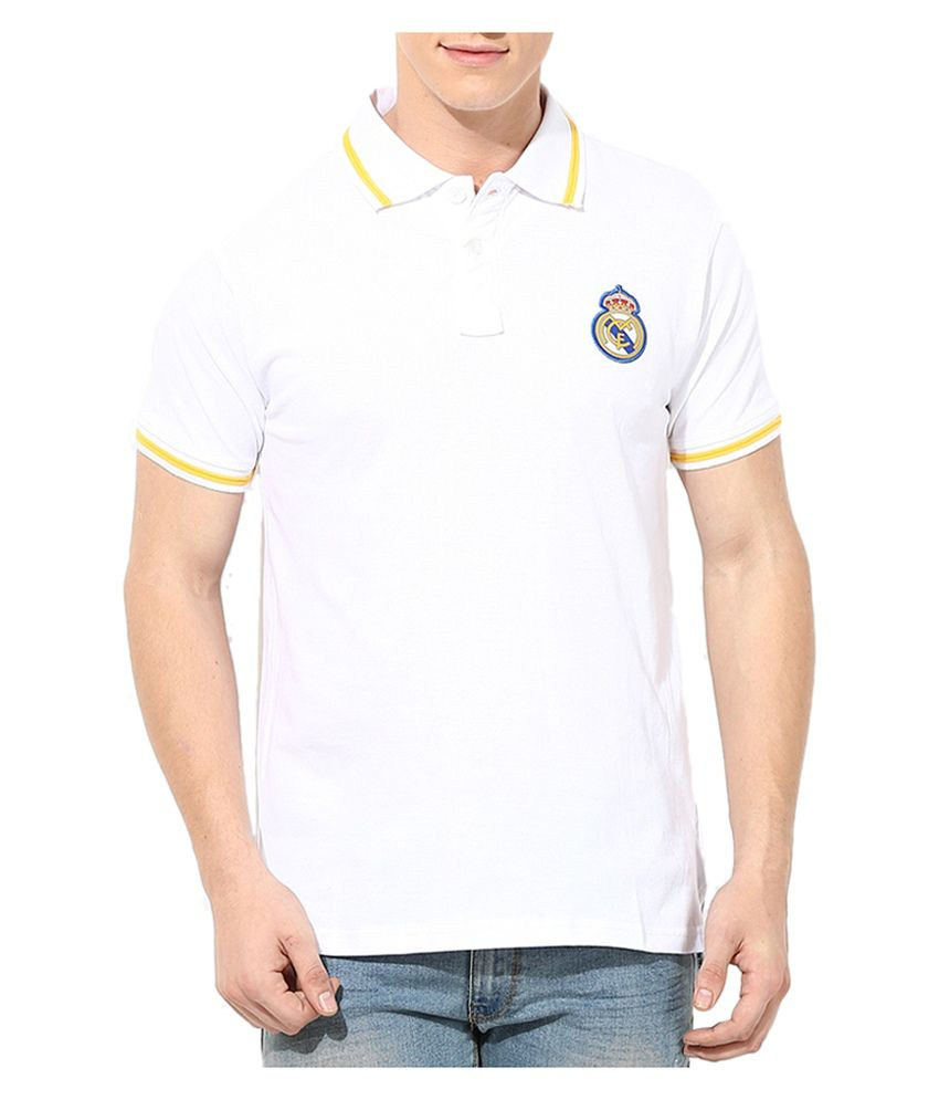 Real Madrid F.C. T Shirt Mens Solid Polo