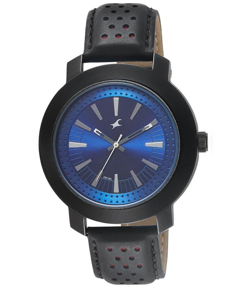 fastrack analog black watch buy fastrack analog black