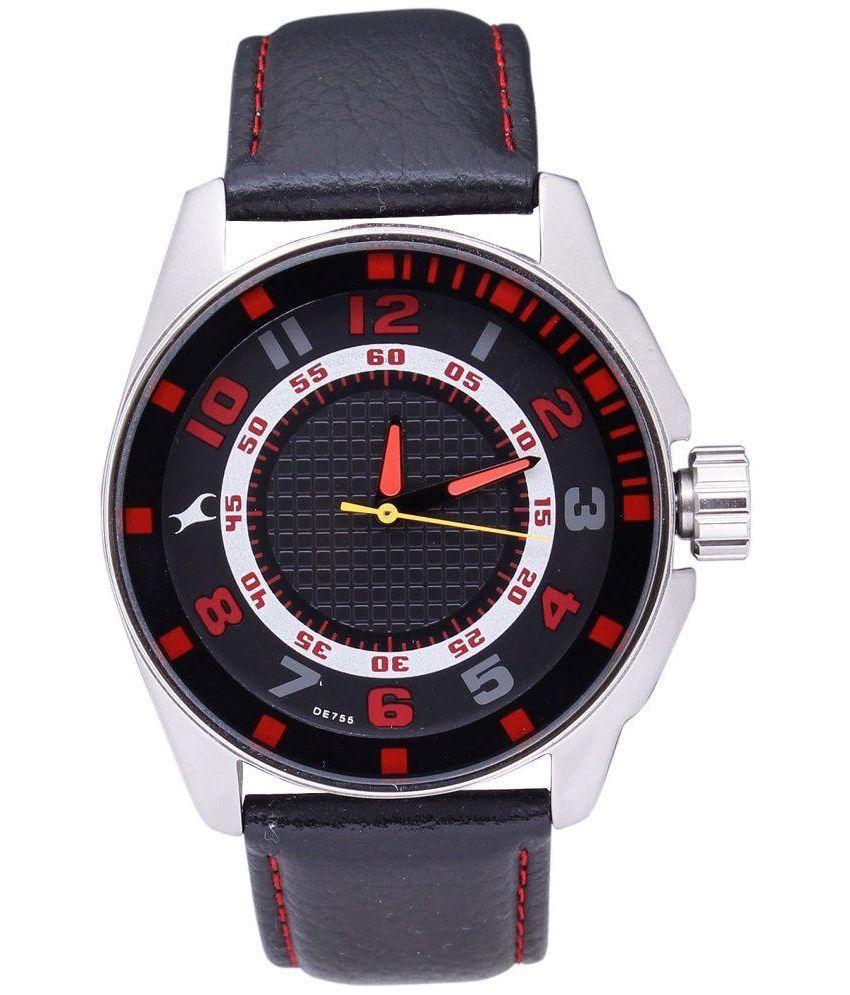 fastrack black analog watch buy fastrack black analog