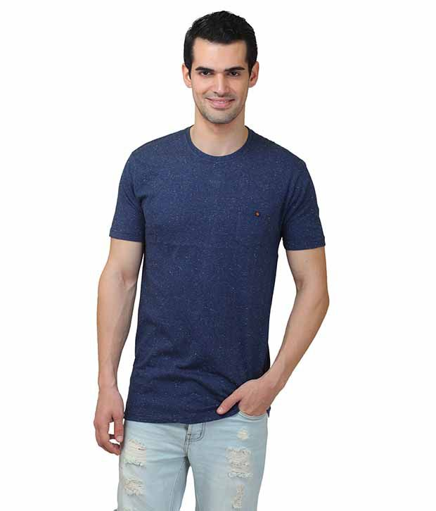 Hash Tagg Navy Round T Shirt