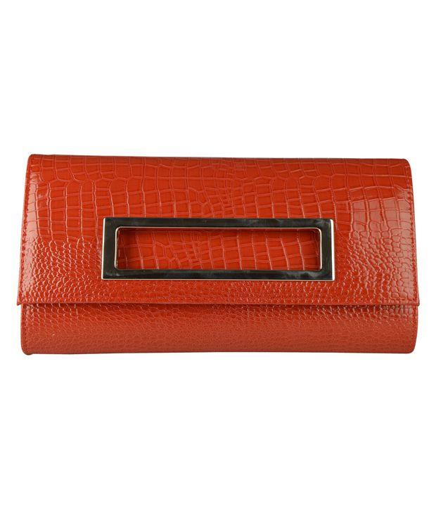 Sunera Tan Faux Leather Clutch