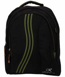 Karban Black School Bag