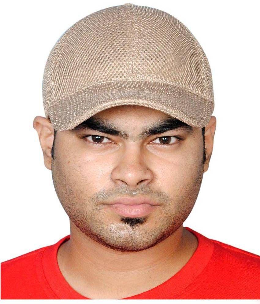 Adishi Beige Polyester Cap
