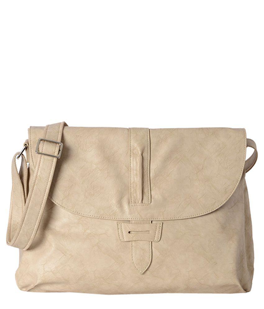 Baggit Beige Synthetic Sling Bag