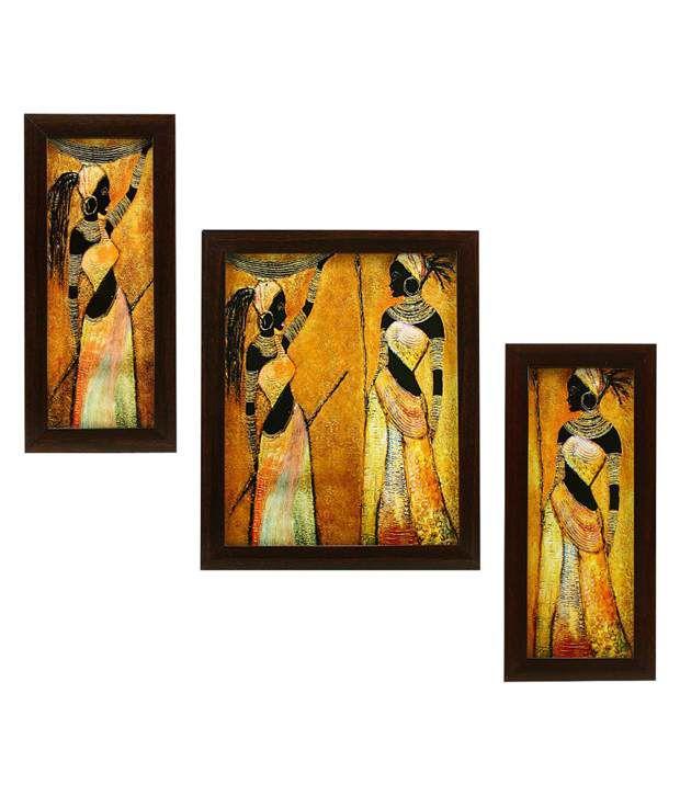 indianara 3 piece set of framed wall art beautiful. Black Bedroom Furniture Sets. Home Design Ideas