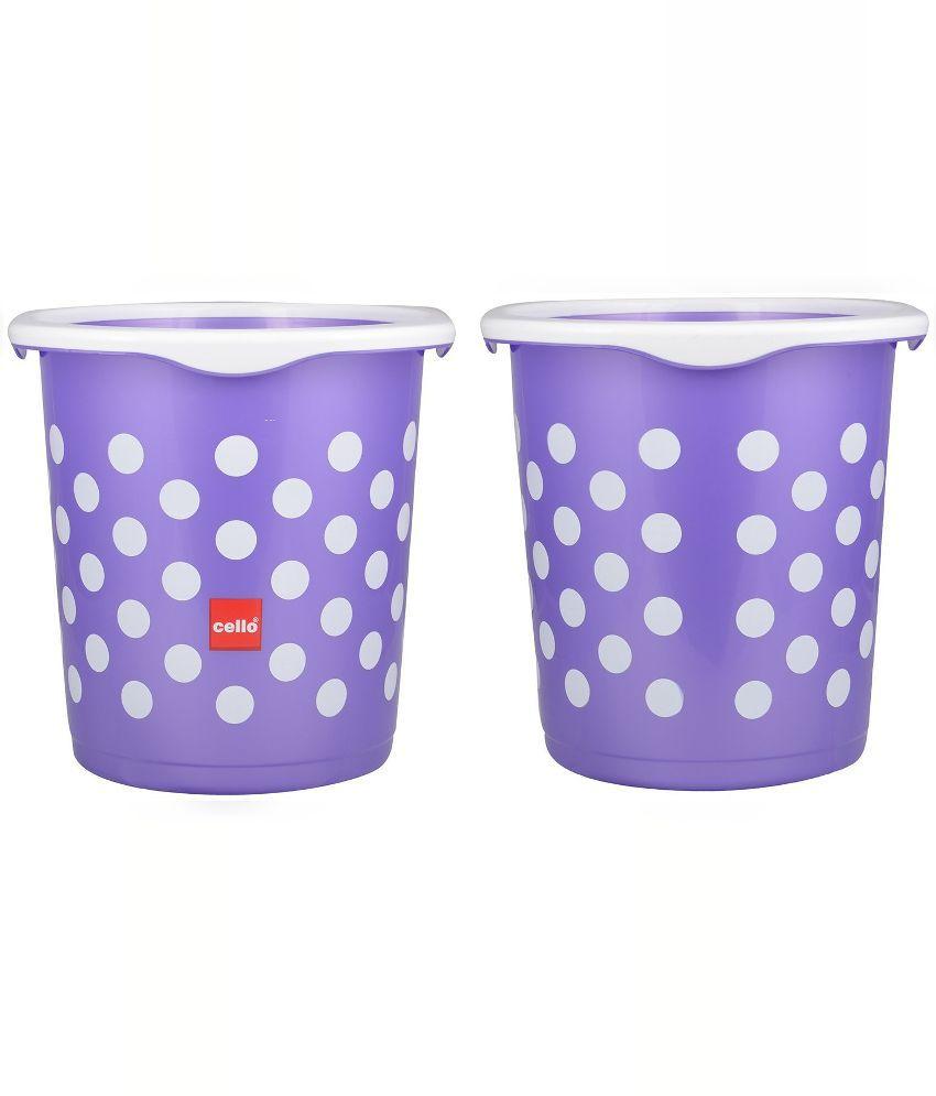 324cbc6d67 Buy Cello Purple 6 Piece Fusion Plastic Bathroom Set Online at Low ...