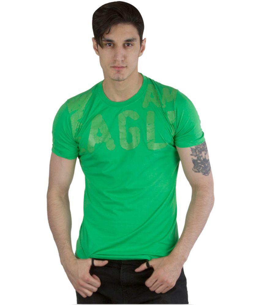 WC Fashion Green Round Neck T Shirt