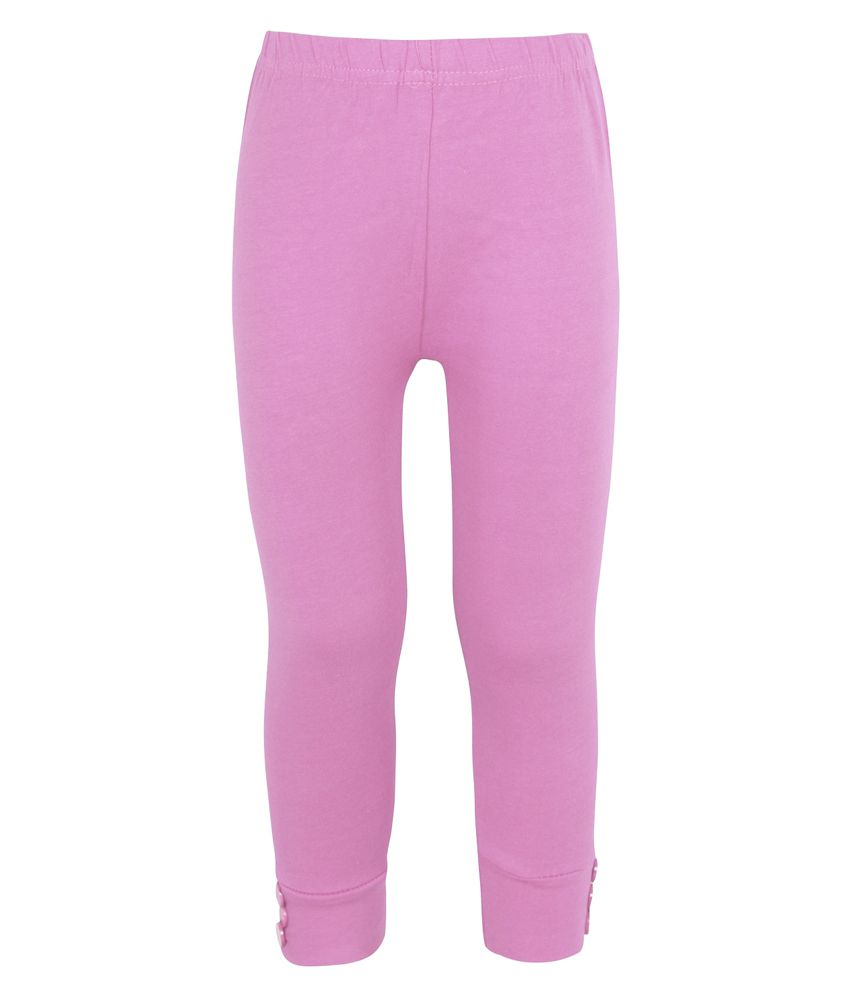 Jazzup Pink Cotton Capris for Girls