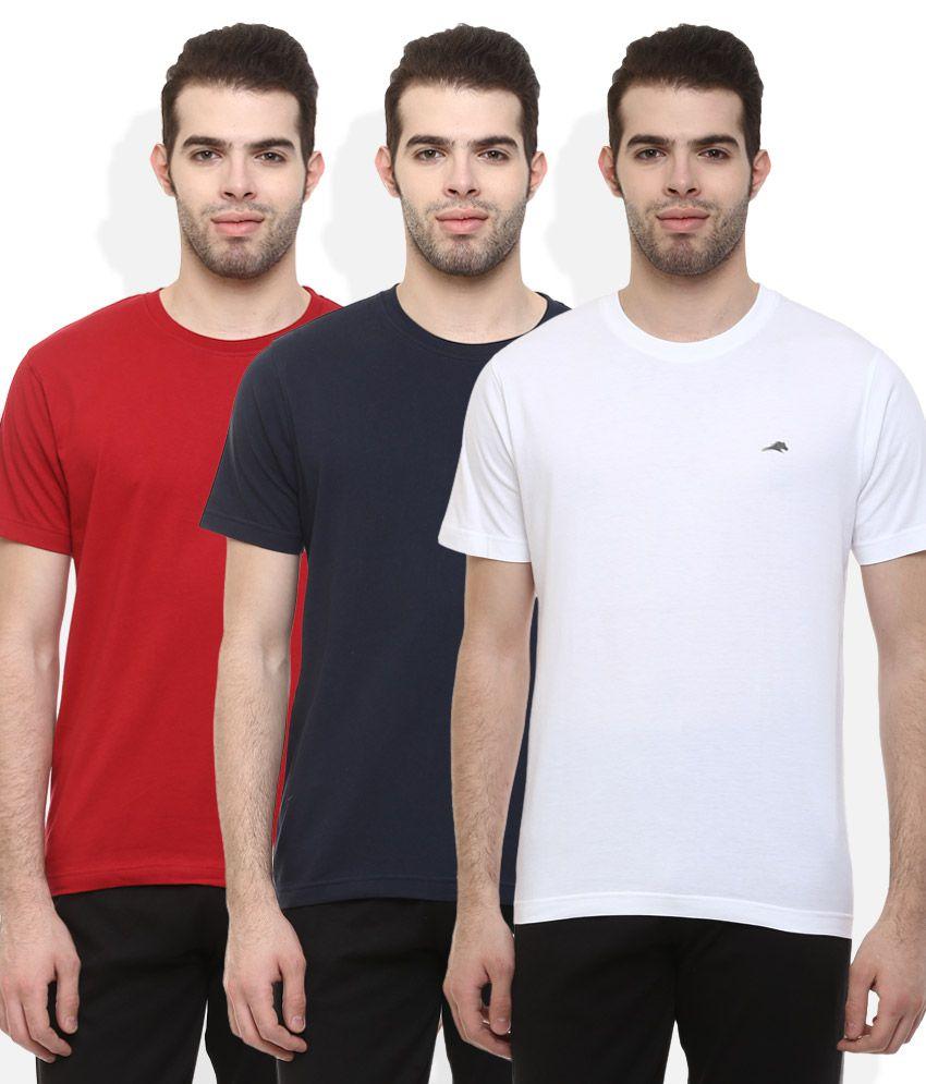 2Go Multi Colour Pack of 3 T-Shirt
