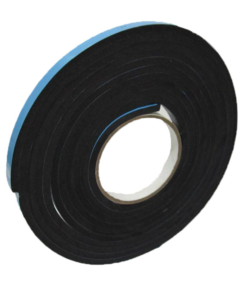 Bapna Double Sided Adhesive 6MM Thick Black Foam Tape 12 MM Width X 5 Meter  Length
