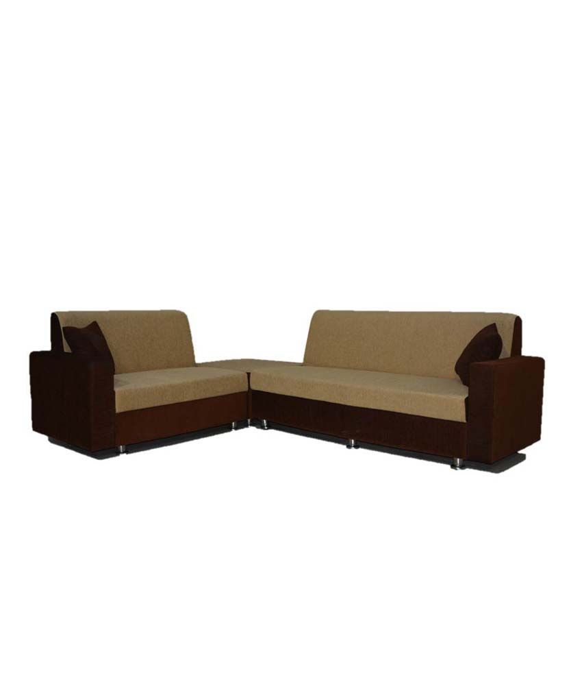 Corner Sofa Set Price In Hyderabad: BLS Cosmo Corner 6 Seatar Sofa Set (3+2+C)