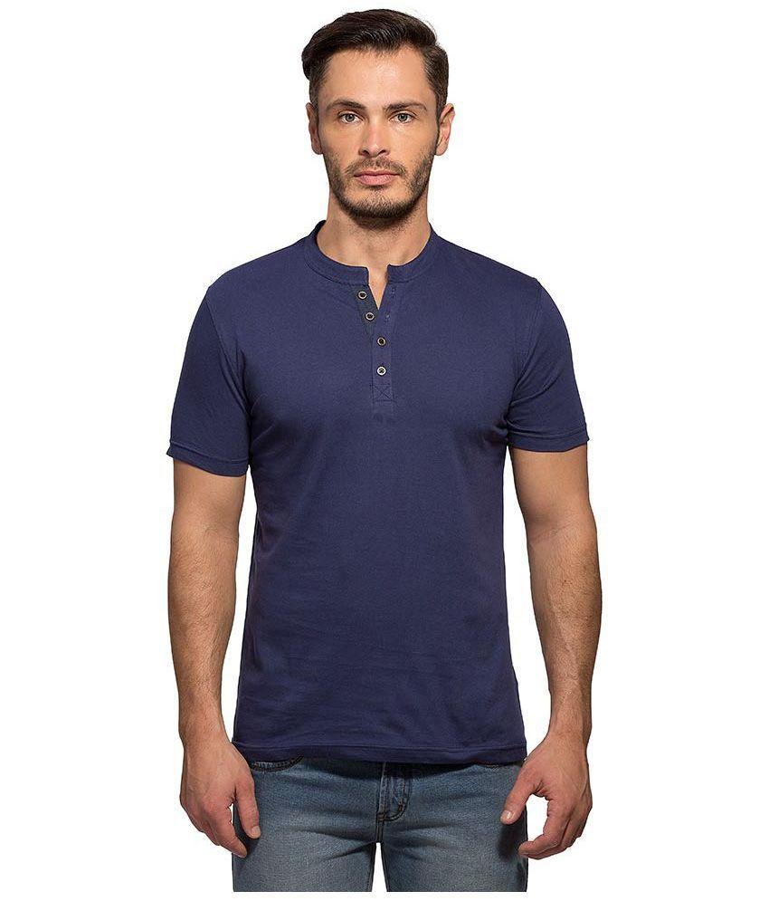 Maniac Navy Henley T Shirt