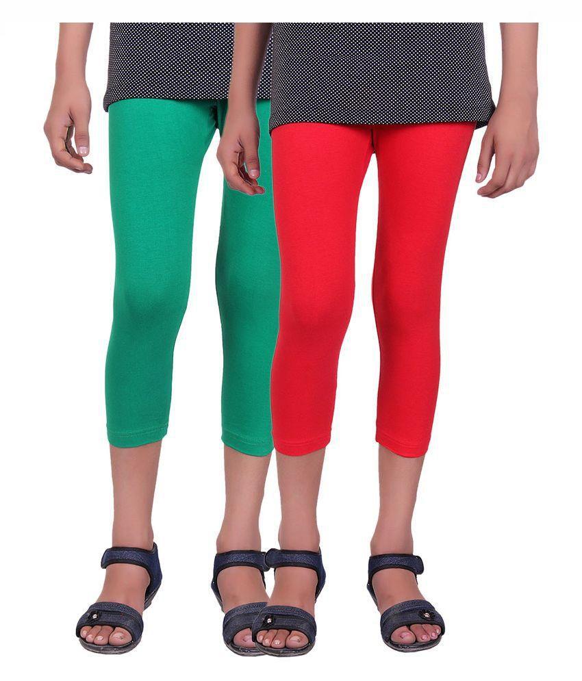 Alisha Multicolour Cotton Capri - Pack of 2