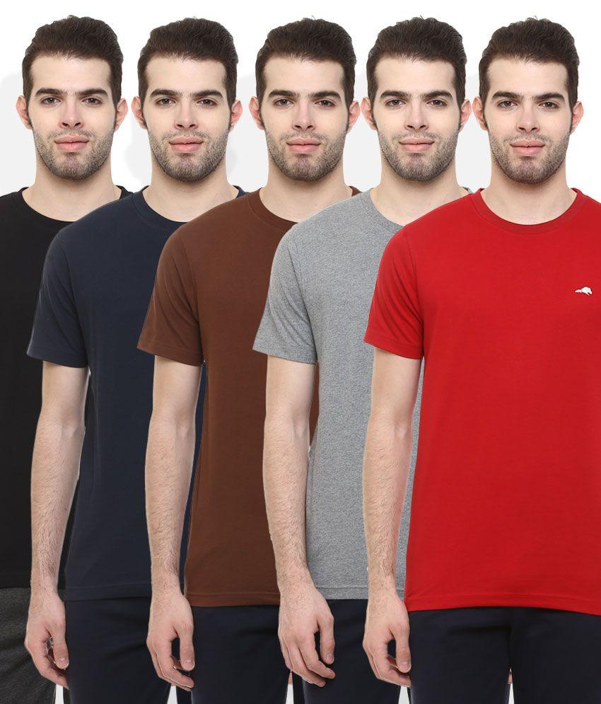 2Go Multi Colour Pack of 5 T-Shirt