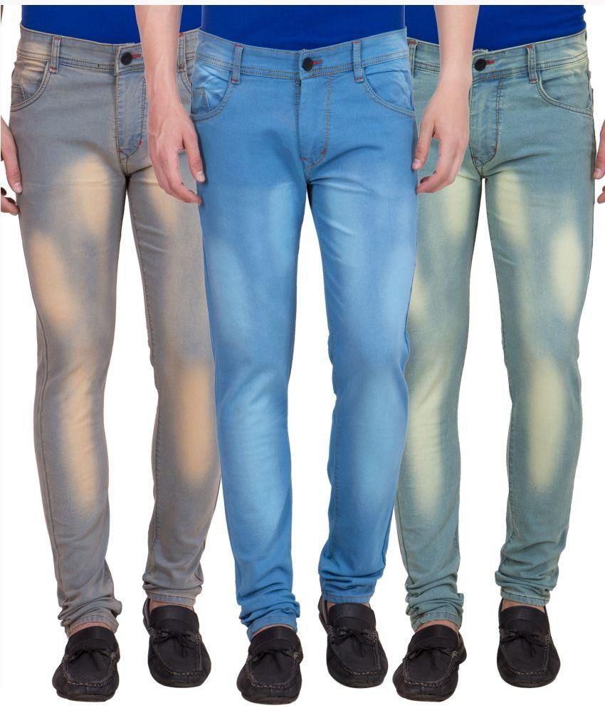 American-Elm Multi Slim Fit Faded Jeans Pack of 3