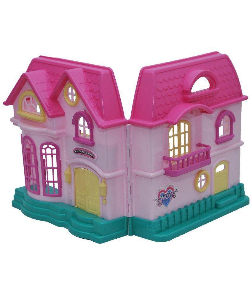 Happy Kids Pink Plastic Doll House Buy Happy Kids Pink Plastic