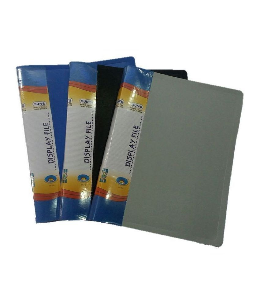 SUN'S Diplay File - 60 POCKETS -(pack of 2)