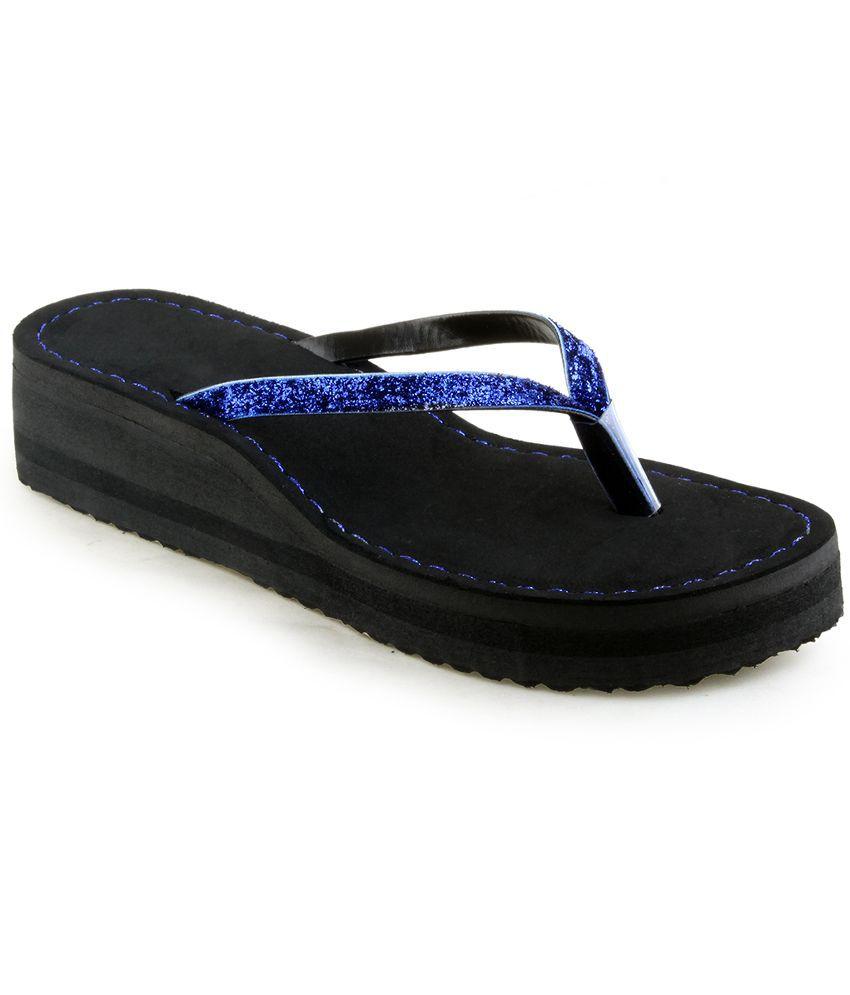 Shoe Lab Blue Flip Flops