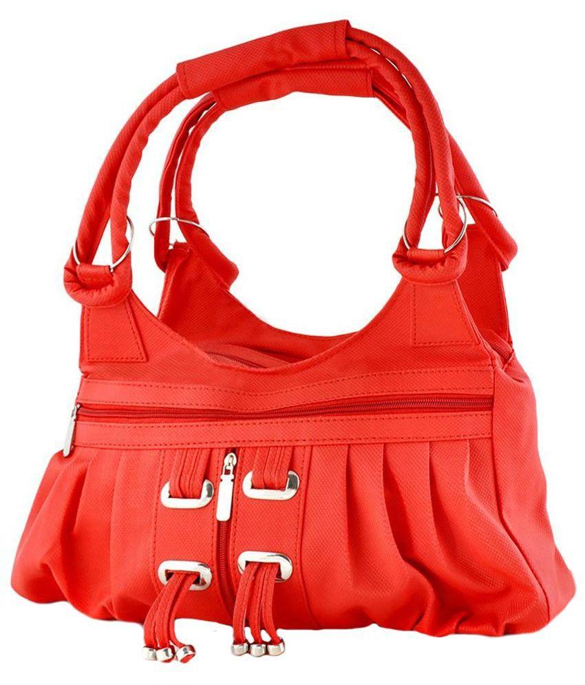 Typify Red P.U. Shoulder Bag