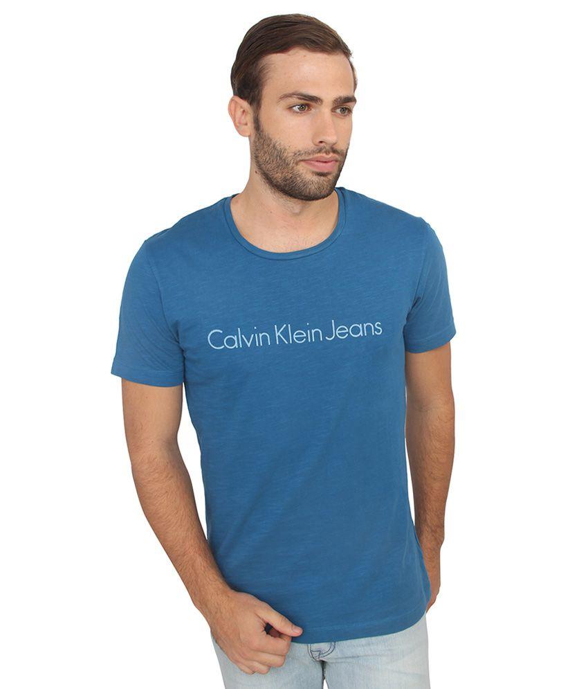 Calvin Klein Jeans Blue Printed T-Shirt